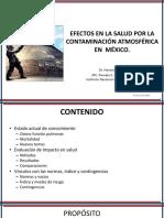 Efectos en La Salud Por La Contaminacion Atmosferica en México
