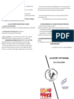 Brochure Présentation Association Sportive