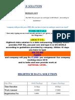 HIGHTECH Project & Account DetailssS