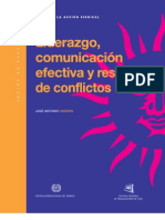 Liderazgo, comunicación efectiva y resolución de conflictos