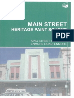 Main St Paint Scheme for King Street, Newtown & Enmore Road, Enmore