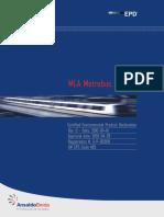 388.46 45 66 - ANSALDO BREDA (2010), MLA Metrobus Brescia Certified Environmetal Product Declaration