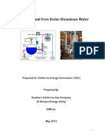 Recover Heat From Boiler Blowdown Water
