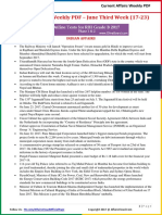 Current Affairs Weekly Pocket PDF 2017 - June(19-25) by AffairsCloud