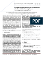 A Literature Review on Optimization of Input Cutting Parameters for Improved Surface Finish in Turning Process