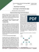 Blockchain Technology Centralised Ledger to Distributed Ledger