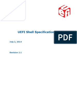 UEFI Shell Spec 2 1 July02release | Command Line Interface