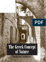 The Greek Concept of Nature SUNY Series in Ancient Greek Philosophy Notas