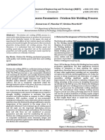 Review on Effect of Process Parameters - Friction Stir Welding Process