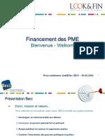 Studie Beci - Lookfin - Financement Des Pme