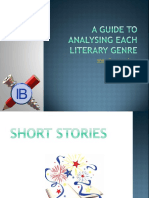A Guide to Analysing Each Literary Genre- Pptx