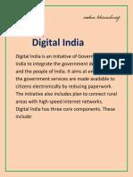 Digital India Article
