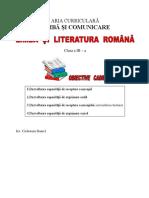 Limba Romana Cl a Iiia