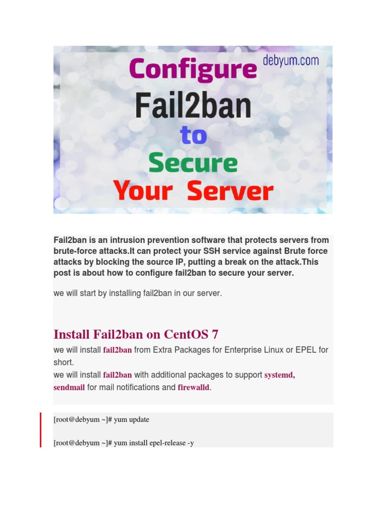 How to Use Fail2ban to Secure Your Server Against Brute