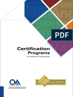 Certifications Program