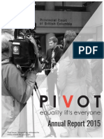 Pivot Legal Society Annual Report 2015