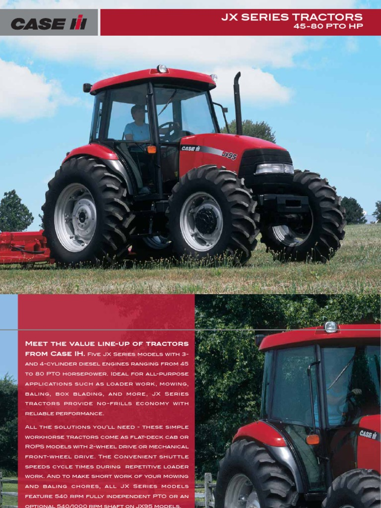 CIH_JX_SERIES_BROCHURE_USA_45-80_PTO_HP.pdf | Tractor | Loader (Equipment)