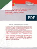 Informe Manipulación de Alimentos MANIPULADORES CON VIH