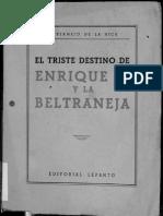 El Triste Destino de Enrique IV y La Beltraneja