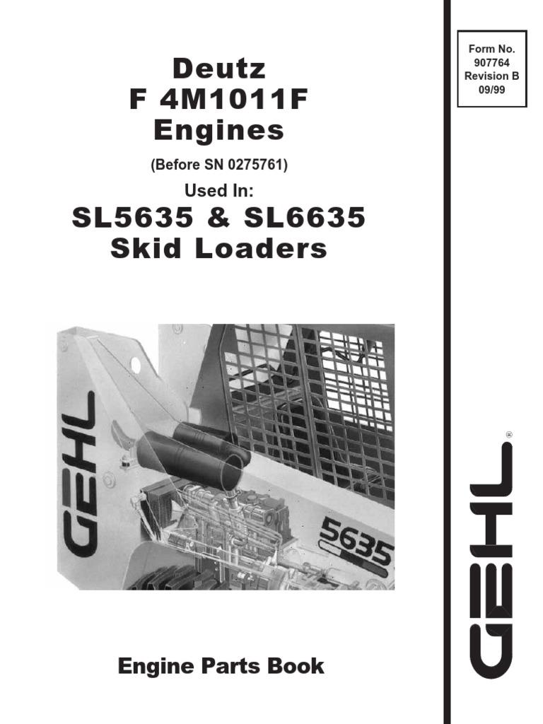 Docslide Deutz F4m1011f Engine Service Parts Manual