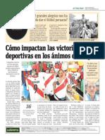 Cómo Impactan Las Victorias Deportivas en Los Ánimos de Un País