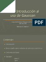 Verónica Jiménez - Breve Introducción Al Uso de Gaussian