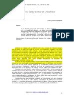 Cabala e Crítica Por Umberto Eco