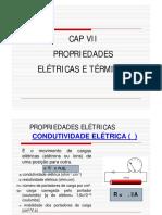 CIENCIAS DOS MATERIAIS - CAP VII Propriedades Eletricas e Termicas Slides