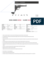 Ruger Mark IV Standard Spec Sheets