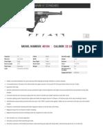 Ruger Mark IV Standard Spec Sheets
