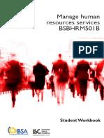 BSBHRM501 Student Workbookpdf 2001