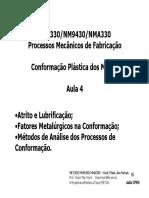 Aula CP04 - 065 a 077 Fatores Metalúrgicos