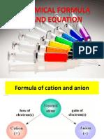 Chemical Formula and Eq