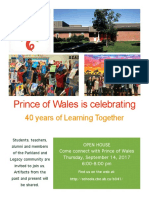 prince of wales 40th offical invitation  1