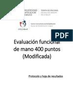 Protocolo Evaluacion Funcional de Mano