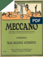 MECCANO 1947 Telar Mecanico Sp
