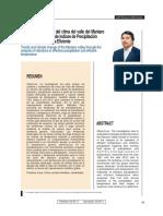 2011, Arroyo, Ic-tendencias y Cambio Climatic Del Valle Mantaro