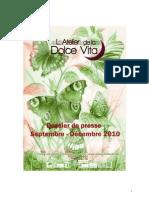 La Dolce Vita Dossier de Presse septembre décembre 2010