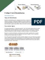 Código Cores Resistências
