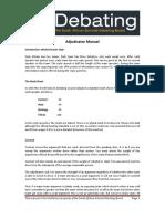 SASDB Handbook Adjudicator Manual