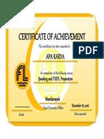 Certificate 4d