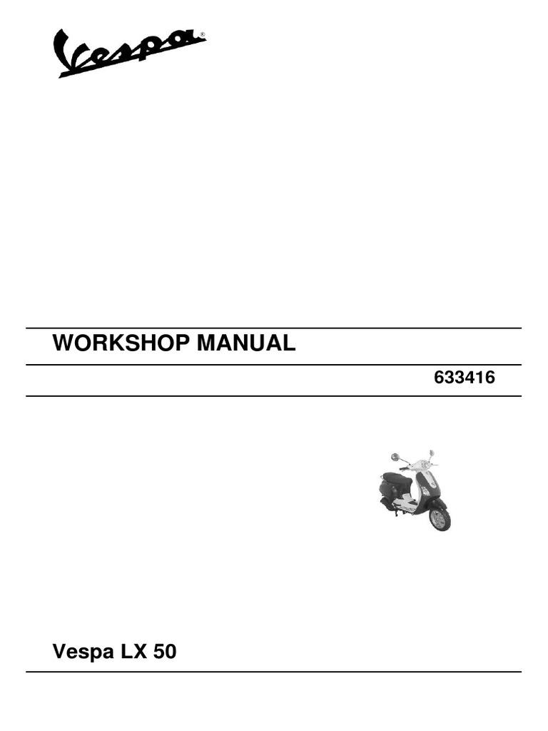 Ecb6a9 Vespa Lx 50 Workshop Manuals