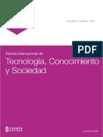 Rev. Int. Tecnologia, Conocimiento y Sociedad 4(2), 2015 Web