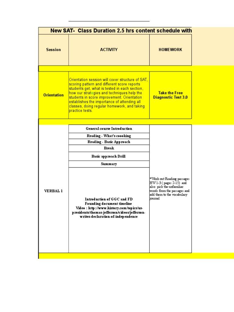 Workbooks tprh verbal workbook : New SAT 2.5 Hrs Schedule Course Workbook V1.0 With 6 Practice ...