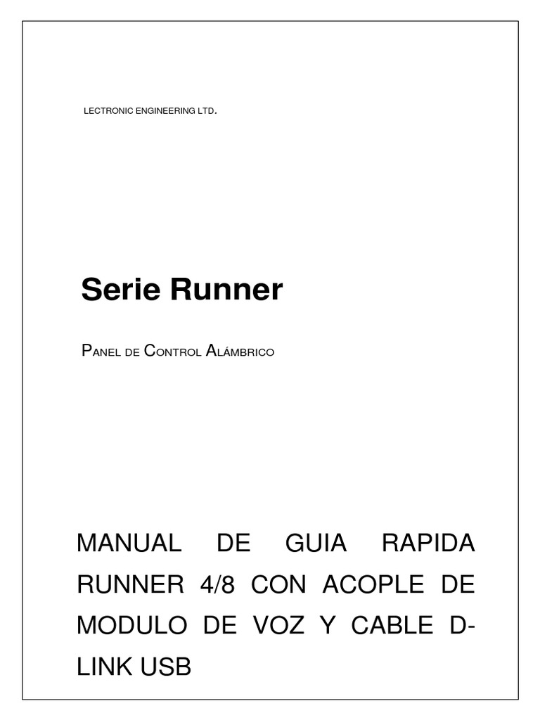 manual alarma crow runner 4