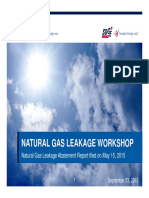 NATURAL GAS LEAKAGE WORKSHOP