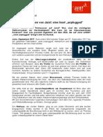 +++ Pressemeldung - Hinter Den Kulissen Von Juist