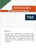Syok Hipovolemik Dr Bestari, Sp. B