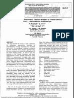 Performance Improvement Through Indexing of Turbine Airfoils Part1 Experiement