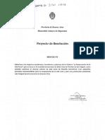 """Proyecto de resolución adhiriendo a los objetivos de la cátedra """"La restauración de la vida rural"""""""